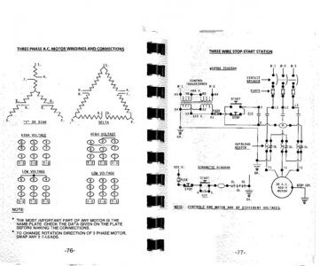 101329 eb987e7a93de30df5fe20551f9ef4f1e how to rewire a 3 phase motor for low voltage (230v) the hobby baldor motor wiring diagrams 3 phase at bayanpartner.co