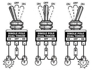 3 Pole Throw Switch