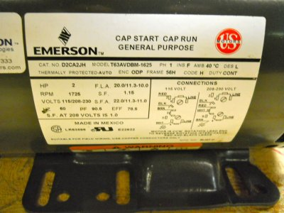 how do i rewire or convert a 115volt to 230 on emerson 1hp motor emerson diagram jpg