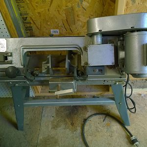 my band saw : found in an old barn so dirty you couldn't tell what it was supposed to be. It is about twenty years old. I rebuilt it and it is better than the new ones.