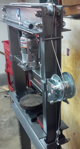 Pimped My HF 20 Ton Shop Press | The Hobby-Machinist