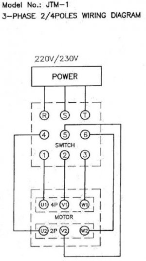 Wiring Diagram For A 2 Speed 3 Phase Motor