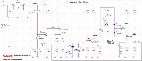 5 transistor ESR Meter with DC voltages1.jpg