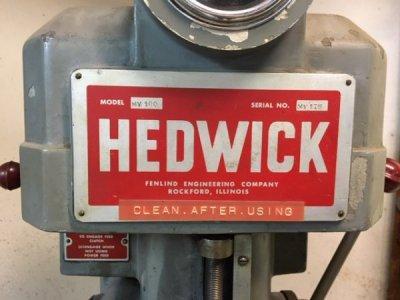 Hedwick Serial Label.JPG