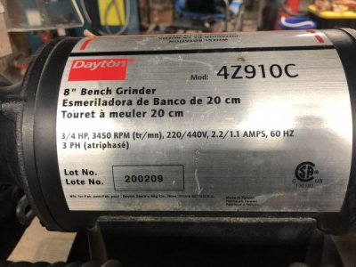 Dayton Bench Grinder slow and hot | The Hobby-Machinist on