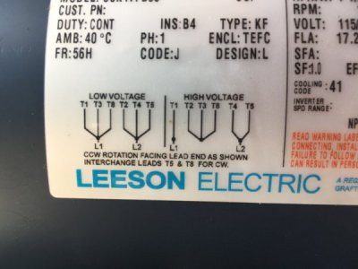 Leeson 220 single phase how to wire to square D 2601 drum switch???? | The  Hobby-MachinistThe Hobby-Machinist