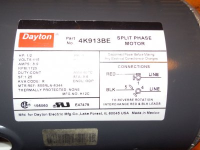 Getting reverse to work on a 120V split-phase motor with a ... on