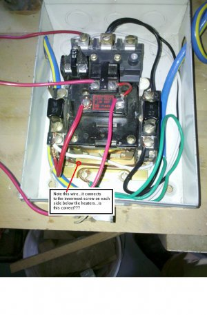 Magnetic starter- wiring an Allen-dley 709 3-phase ... on