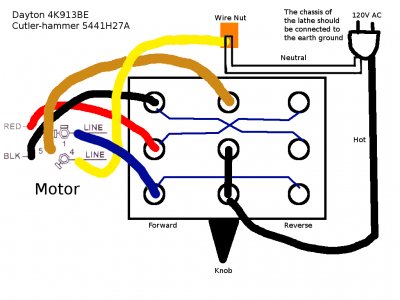 Getting reverse to work on a 120V split-phase motor with a ...