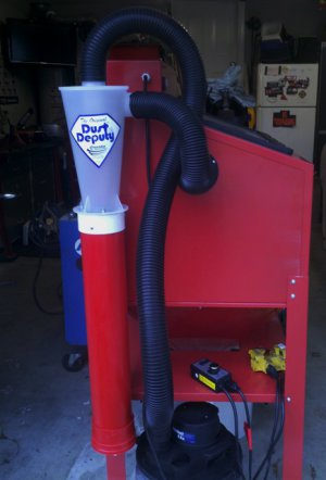 Chuck's blast cabinet HEPA dust collection system For under $100