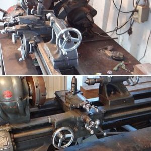 10' Atlas lathe and Craftsman drill