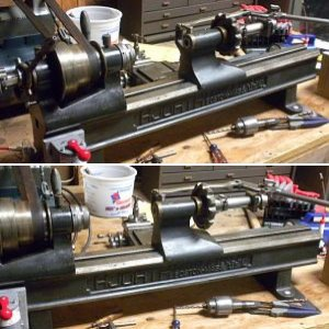 4NS Hjorth Lathe with collet closer and drilling tail stock