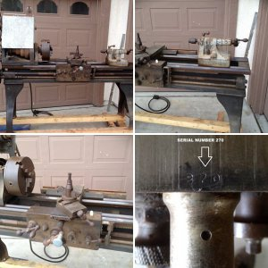 Antique Flather Lathe