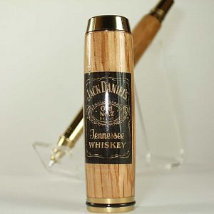 Pen made from  Jack Daniels whiskey barrel.