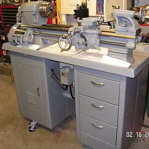 southbend 10k lathe reconditioned for Westminister school in edmonton