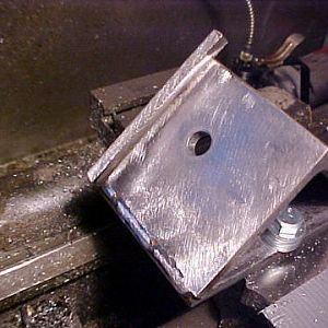 welded angle block to hold part on a 45