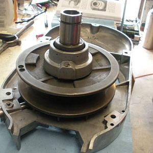 View two after installing the spindle pulley hub assembly.