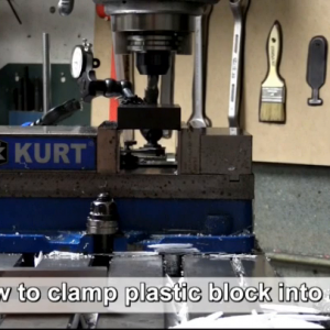 How to clamp a plastic block into a vise.